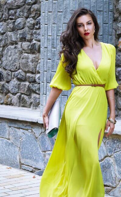 długa sukienka stylizacja